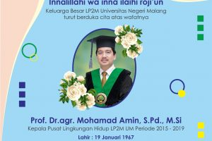 Prof. Dr.agr. Mohamad Amin, S.Pd., M.Si